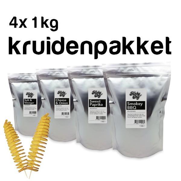 4x 1Kg. Aardappel twister kruidenpakket