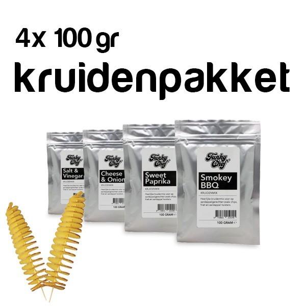 4x 100gr. Aardappel spiraal kruidenpakket