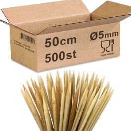 Bamboe prikkers 50cm Ø5mm...