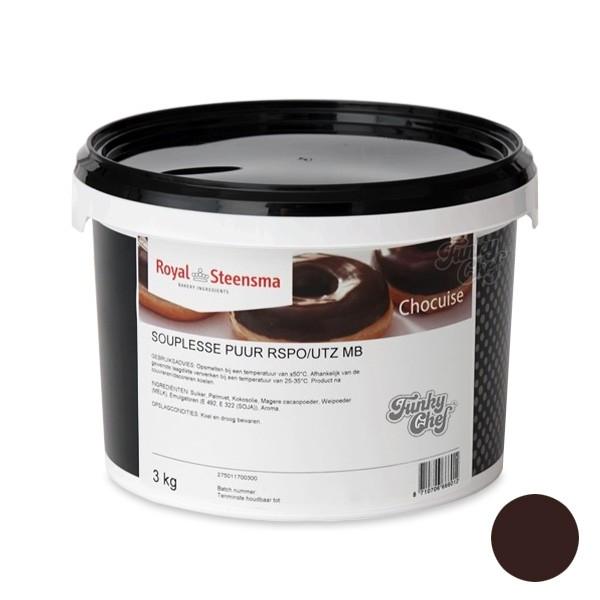 Souplesse Glazuur Chocolade Puur