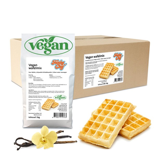 Vegan Wafelmix 10x 1kg